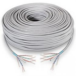 latiguillo rj45 cat.6 ftp awg24 gris 100m
