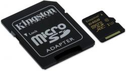 kingston microsdxc gold 64gb clase 10 uhs-i + adaptador sd