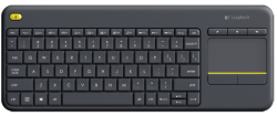 logitech wireless touch k400+ negro portugués
