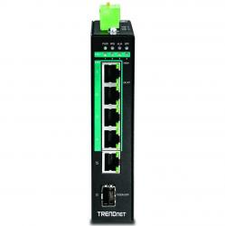 switch trendnet ti-pg541 din-rail poe 5 puertos