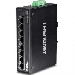 switch trendnet ti-pg80 din-rail poe 8 puertos