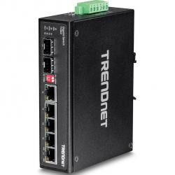 switch trendnet ti-g62 din-rail 6 puertos
