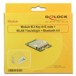 adaptador delock m.2 a wlan + bluetooth