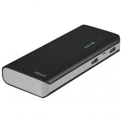 power bank trust urban primo con linterna negro