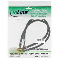 cable inline 26630a 8pin macho/hembra 30cm negro