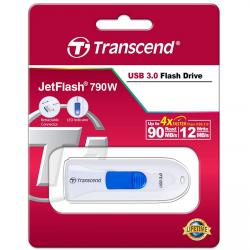 pendrive 64gb transcend jetflash 790 blanco