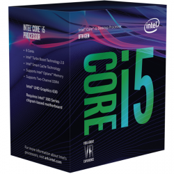 cpu intel core i5-8600k box
