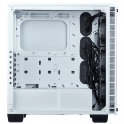 corsair crystal series 460x rgb compact blanco
