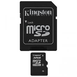 kingston microsdhc 32gb class 4 + adaptador sd