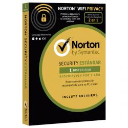 norton 2018 security estándar + wifi privacy multidevice 1 licencia