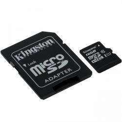 kingston canvas select microsdhc 16gb clase 10 + adaptador sd