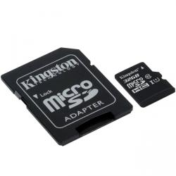 kingston canvas select microsdhc 32gb clase 10 + adaptador sd