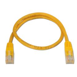 aisens - cable de red latiguillo rj45 cat.6 utp awg24, amarillo, 0.5m