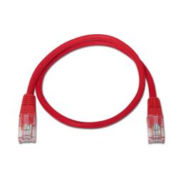 aisens - cable de red latiguillo rj45 cat.5e utp awg24, rojo, 0.5m