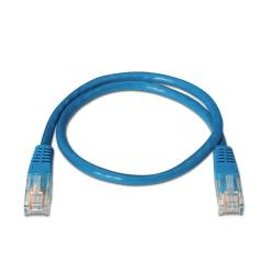 aisens - cable de red latiguillo rj45 cat.5e utp awg24, azul, 0.5m