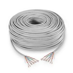 aisens - cable de red rj45 cat.5e ftp flexible awg24, gris, 100m
