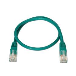 aisens - cable de red latiguillo rj45 cat.6 utp awg24, verde, 0.5m
