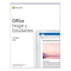 microsoft office hogar y estudiantes 2019 1 pc/mac