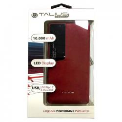 power bank talius tal-pwb4010 10000mah red