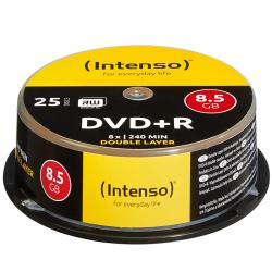dvd+r intenso 8.5gb 8x double layer 25 unidades
