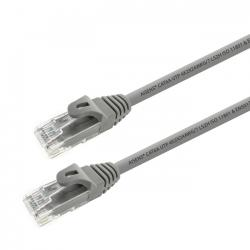 aisens - cable de red latiguillo rj45 lszh cat.6a utp awg24, gris, 3m