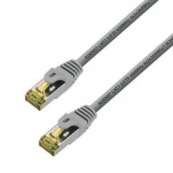 aisens - cable de red latiguillo rj45 lszh cat.7 s/ftp awg26, gris, 0.5m