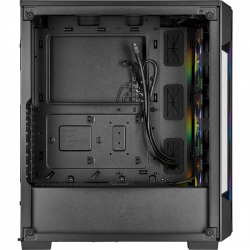 corsair icue 220t rgb tempered glass negra