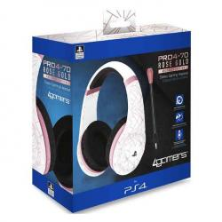 auriculares gaming 4gamers pro4-70 rose gold