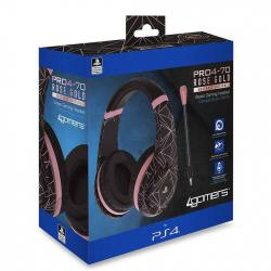 4gamers  rose gold black auricular gaming ps4 pro4 70