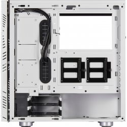 corsair 275r airflow tempered glass blanca