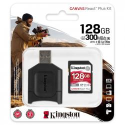 kingston canvas react plus sdxc 128gb + lector sd