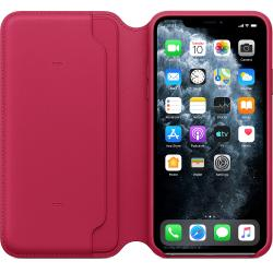 funda apple leather folio iphone 11 pro max frambuesa