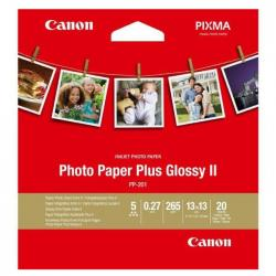 papel fotográfico canon photo paper plus glossy ii 13x13mm 20 hojas